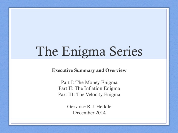 why can money perform its functions the money enigma executive summary